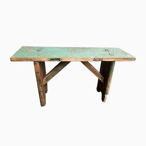 Banc ou Table d'Appoint Vintage en Bois