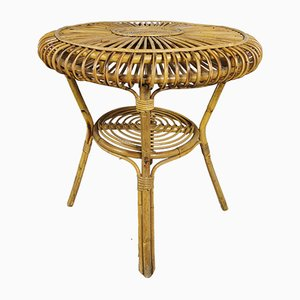 Table Basse Mid-Century en Bambou