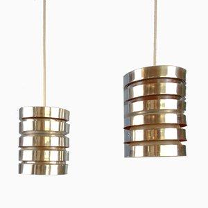 Tubular Pendant Lamps by Carl Thore for Granhaga, Set of 2
