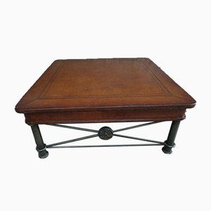 Vintage Coffee Table with Leather Top