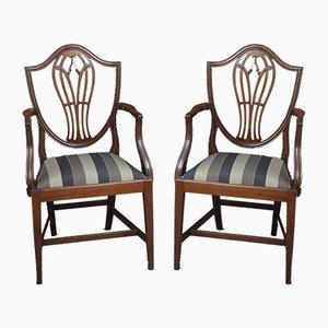 Hepplewhite Carver Chairs, Set of 2