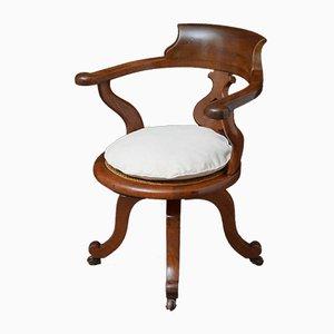 Chaise de Bureau Victorienne en Acajou
