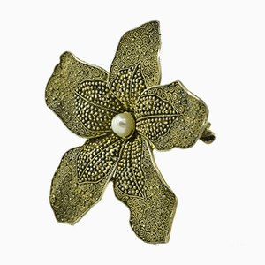 Orchid Brooch by Theodor Fahrner, Germany, 1935