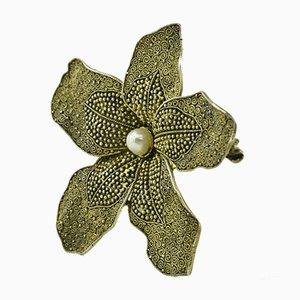 Spilla a forma di orchidea di Theodor Fahrner, Germania, 1935