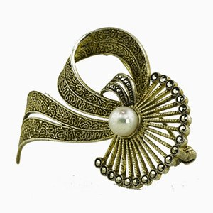 Large Brooch with Pearl by Theodor Fahrner, Germany, 1935