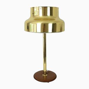 Bumling Tischlampe aus Messing & Leder von Anders Pehrson für Ateljé Lyktan, 1960er