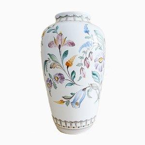 Vaso in ceramica con decorazioni floreali di Gmunder, anni '40
