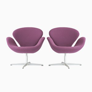 Purple Swan Sessel von Arne Jacobsen für Fritz Hansen, Dänemark, 1958