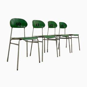 Vintage Schulstühle, 5er Set