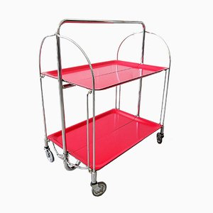 Red Dinette Foldable Trolley, Germany, 1960s