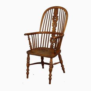 Sedia Windsor in legno e legno vittoriano