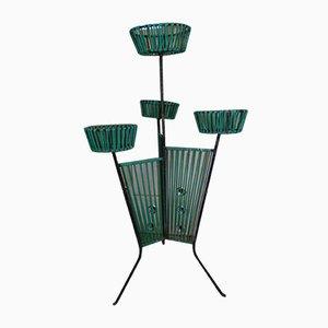Industrieller Vintage Pflanzer aus Kunststoff & Metall, 1950er oder 1960er