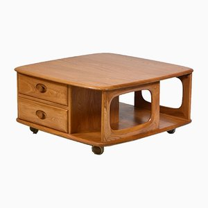 Vintage Pandora's Box Side Table from Ercol