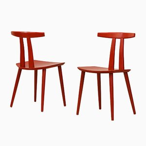 J111 Chairs by Poul M. Volther for FDB, 1970s, Set of 2