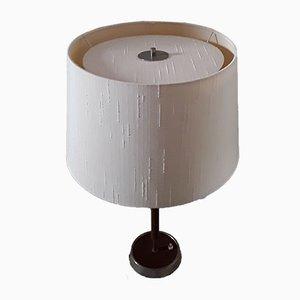 Lampada da tavolo vintage con base in metallo cromato