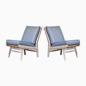 Mid-Century Modern Beach House Sessel mit Ian Mankin Stoff von Scandart, 1960er, 2er Set
