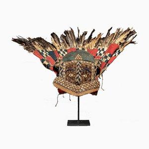 Kuba Ishyeen Feathered Masks, Set of 3