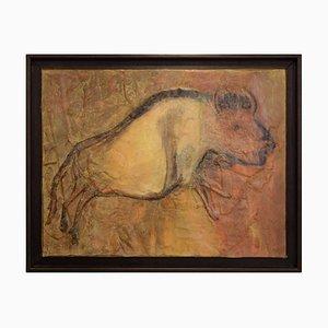 Lola Vitelli, Bison, Mixed Media on Canvas