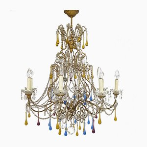 Murano Glass Marie Thérèse Chandelier with Multicoloured Drops