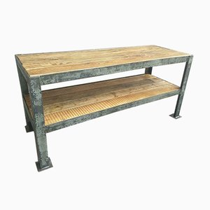 Industrial TV Furniture or Side Table in Steel with Wood