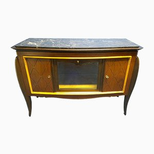 Rosewood and Mahogany Buffet by Jean Pascaud, 1940s
