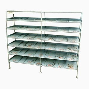 Industrial Shelving Unit, Shoe Rack or Room Divider in Gray
