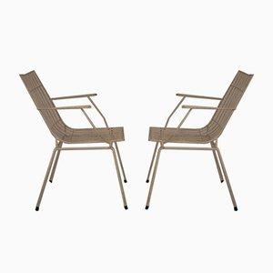 Eisen Gartenstühle, Spanien, 1950er, 4er Set