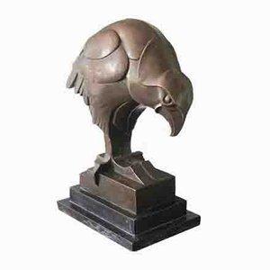Große Bronzeskulptur des Falken von Altdorf