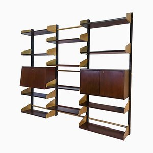 Mid-Century Italian Wall Mounted Bookcase from FEAL, 1960s