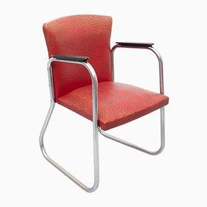 Chaise de Bureau en Chrome Tubulaire Attribué Paul Schuitema, 1950s