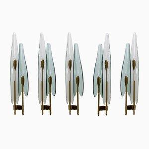 Mid-Century Modern Dahlia Wandlampe von Max Ingrand für Fontana Arte, 1950er