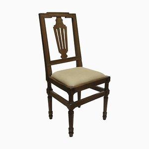 Antike Nussholz Stühle, 4er Set