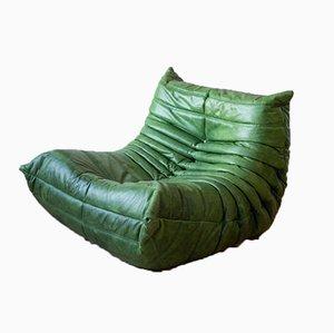 Green Dubai Leather Togo Lounge Chair