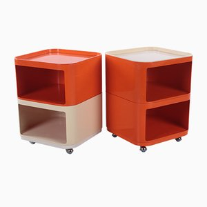 Cabinet Set by Anna Castelli Ferrieri for Kartell, Italy, Set of 4