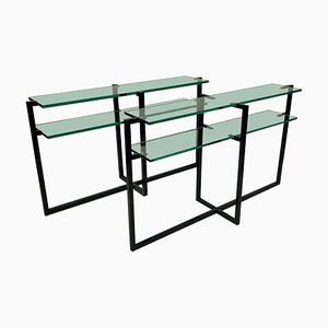 French Modernist Console Tables, 1960s, Set of 2