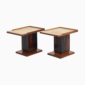 Vellum Side Tables in the Style of Paul-Dupré Lafon, Set of 2