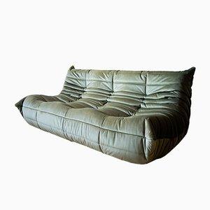 Vintage Leather 3-Seat Togo Sofa by Michel Ducaroy for Ligne Roset