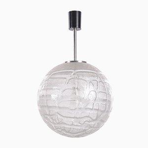 Glaskugel Hängelampe von Doria Leuchten, 1970er