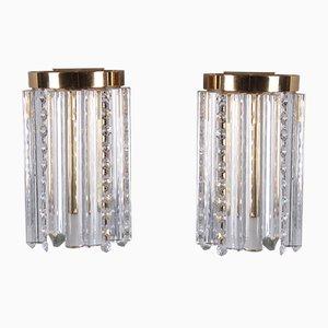 Wandlampen aus Messing im Hollywood Regency Stil, 1970er, 2er Set