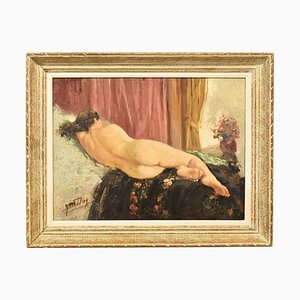 Nude Woman, Oil on Canvas, 20th Century