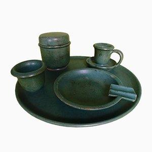 Ceramic Green Smoking Set, Set of 5