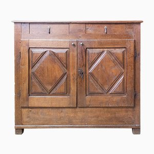 Credenza or Sideboard with Diamond Doors, France, Late 19th Century