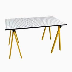 Yellow Trestle Desk by Rodney Kinsman for Bieffeplast, 1980s