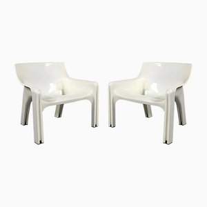 Vicario Lounge Chairs by Vico Magistretti for Artemide, 1970s, Set of 2