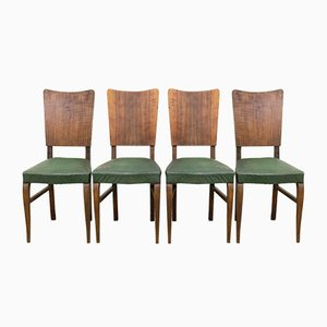 Vintage Dining Chairs, France, 1950s, Set of 4