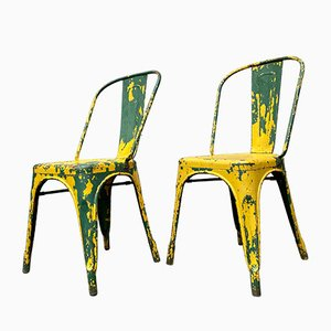 Model A Chairs by Xavier Pauchard for Tolix, 1950s, Set of 2