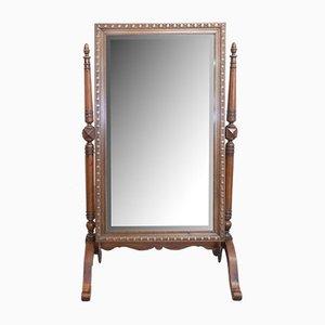 Full Length Beveled Psyche Mirror, France, Late 19th Century