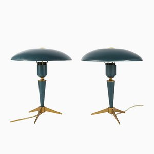 Expo 58 Tripod Desk Lamps by Louis Kalff for Philips, 1950s, Set of 2