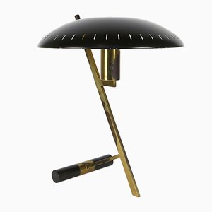 Modell Z Lampe aus Messing & schwarzem Metall von Louis Kalff für Philips, 1950er