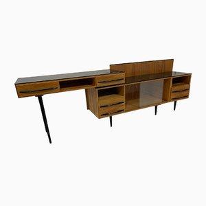Table Modulaire, Table de Chevet et Commode à Tiroirs par M. Pozar, 1960s, Set de 3